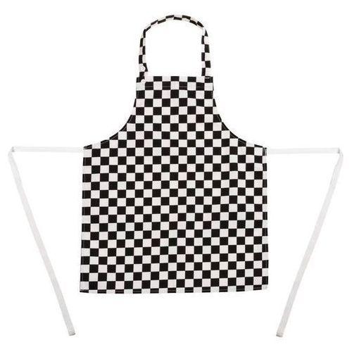 Whites chefs clothing Dziecięcy fartuch biało-czarna krata | 68,5x51cm