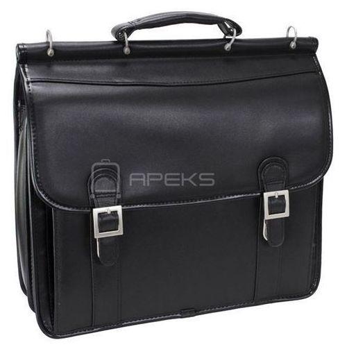 """McKlein Halsted skórzana teczka / torba na ramię na laptopa 15,6"""" - czarny, kolor czarny"""