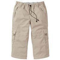 Spodnie 3/4 Loose Fit bonprix beżowy