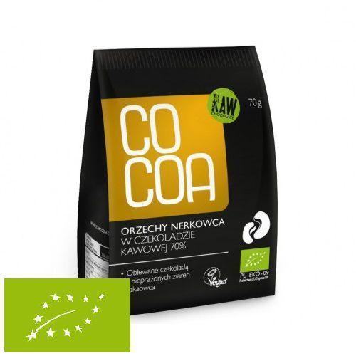 Cocoa Orzechy nerkowca w surowej czekoladzie kawowej 70g