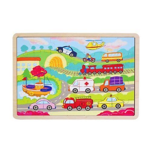 Puzzle drewniane - Pojazdy (5907791580184)