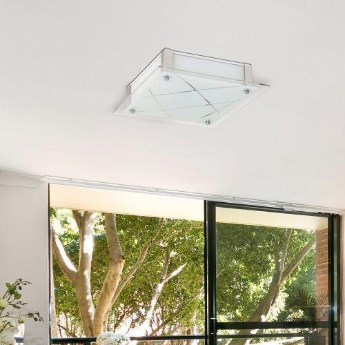 Plafon devin 3056 lampa sufitowa 1x12w led biały / chrom marki Rabalux
