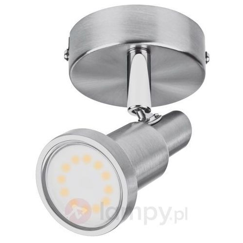 Lampa sufitowa LED OSRAM LED Spot 1x3W grå 4052899393653, LED wbudowany na stałe, 1 x 3 W, ciepły biały, 8 cm x 13 cm nikiel (szczotkowany), LED Spot 1x3W grå