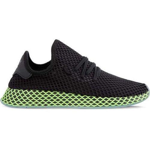 deerupt runner core black core black ash blue - buty męskie sneakersy, Adidas