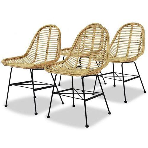 Vidaxl krzesła do jadalni, 4 szt., naturalny rattan