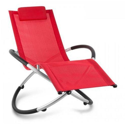 Blumfeldt Chilly Billy Leżak ogrodowy Leżak relaksacyjny Aluminium czerwony