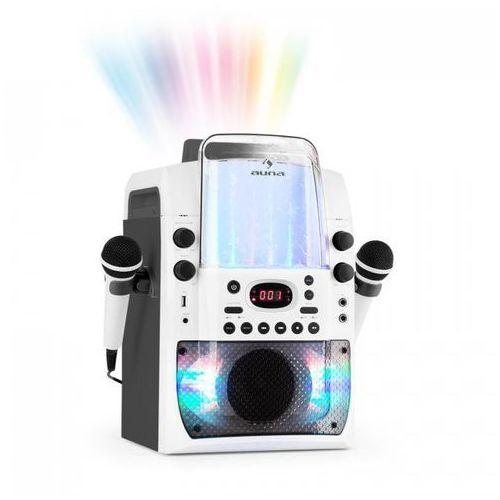 Auna Kara liquida bt zestaw karaoke show świetlne fontanna bluetooth biały/szary