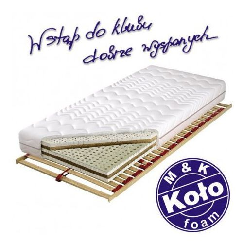 Materac tahiti - m&k koło, rozmiar - 120x200 cm, pokrowiec - soya - negocjuj ceny marki M&k foam koło