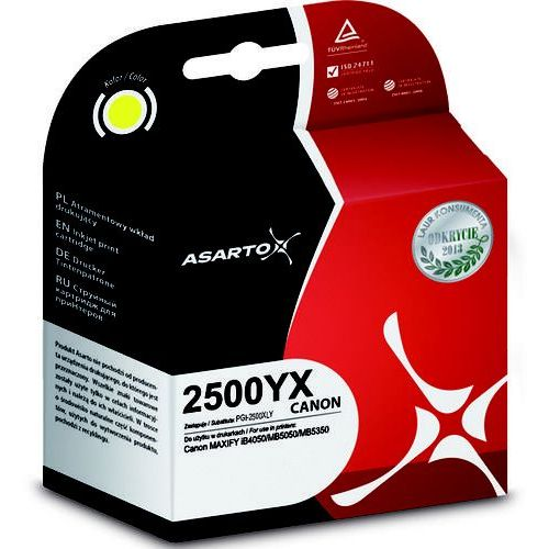 Asarto Tusz do canon pgi-2500xly | maxify ib450/mb5050/mb5350 | 1520str | yellow