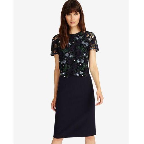 Phase Eight Margo Lace Dress, kolor niebieski