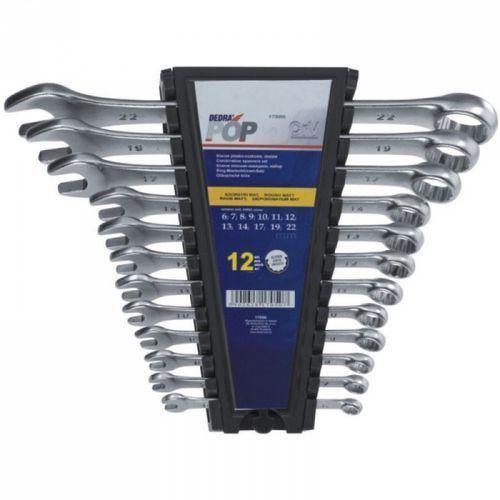Dedra Zestaw kluczy płasko-oczkowych 1703k 8 - 22 mm (8 elementów) (5902628170309)
