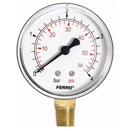 Manometr Ferro 4 bar 63 mm 1/4 Radial, M6304R