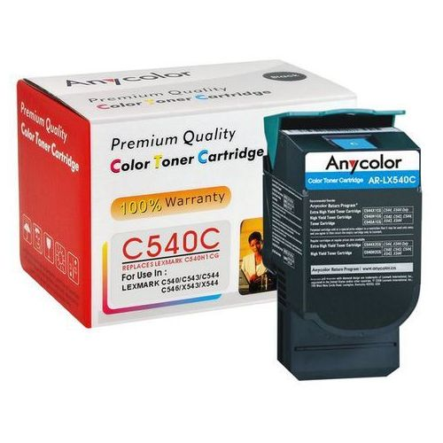 Toner Lexmark C540 C543 C544 X543 X544 zamiennik cyan 2k, AR-LX540C