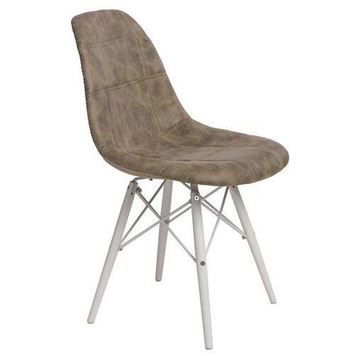 Krzesło p016w pico oliwkowe/white marki D2design