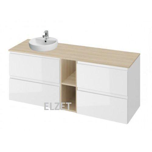 Cersanit szafka moduo biały połysk pod umywalkę nablatową + komoda + moduł otwarty + blat 140 s929-010+k116-021+k116-020+s590-027