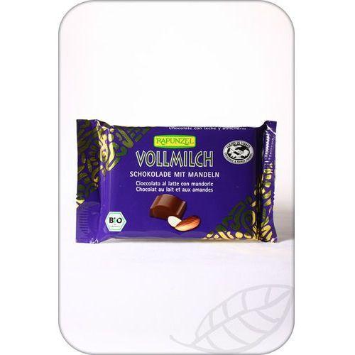 Rapunzel: czekolada mleczna z migdałami BIO - 100 g, 4006040196006