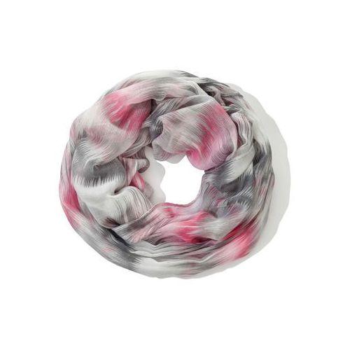 Bonprix Szal koło kolorowy różowo-biały