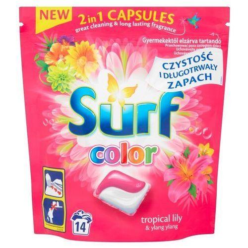 Unilever Surf color kapsułki do prania 2in1 tropikalna lilia & ylang ylang 1op.-14szt