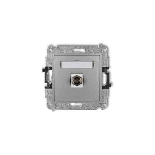 Gniazdo antenowe mini 7mgf-1 pojedynczego typu f (sat) niklowany srebrny metalik marki Karlik