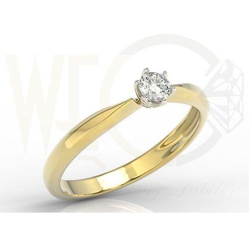 Węc - twój jubiler Pierścionek zaręczynowy z żółtego i białego złota z brylantem 0,20 ct, model ap-3620zb