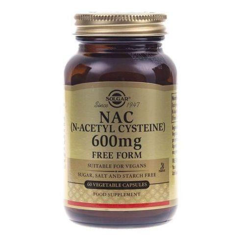 Kapsułki Solgar NAC (N-acetylo-L-cysteina) 600 mg - 60 kapsułek
