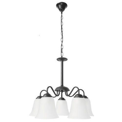 Lampa wisząca Rabalux Fabiola 7258 5x40W E27 czarna (5998250372587)