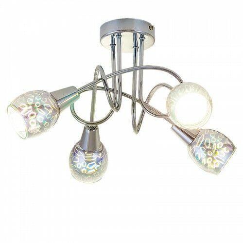 Rabalux Plafon lampa sufitowa porto 4x40w e14 chrom 6010 (5998250360102)