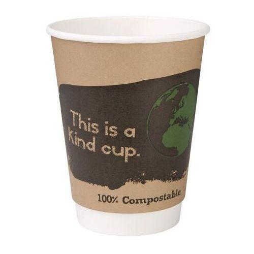 Fiesta green Kompostowalne kubki dwuściankowe na kawę 355ml / 12oz