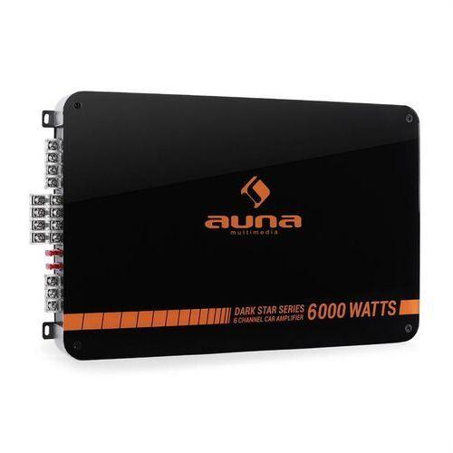 Auna Dark Star 6000 końcówka mocy do samochodu 6-kanał 600W RMS (4260359385302)