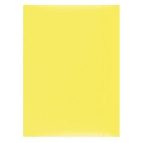 Office products Teczka z gumką , karton, a4, 300gsm, 3-skrz., żółta (5901503655191)