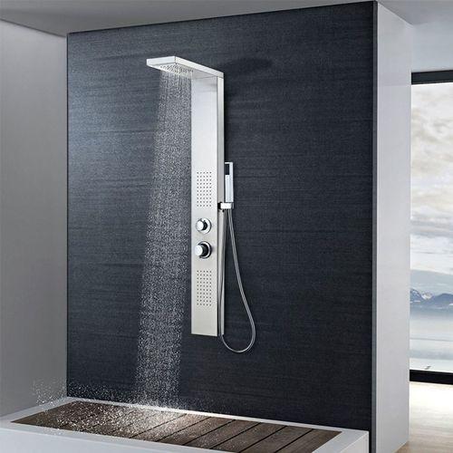 Vidaxl panel prysznicowy ze stali nierdzewnej kwadratowy (8718475519911)