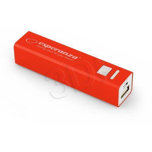 Esperanza  power bank erg 2400mah czerwony darmowa dostawa do 400 salonów !!