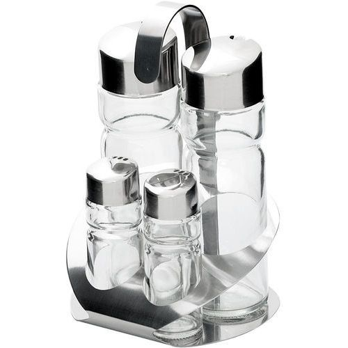Stalgast Zestaw 4-elementowy do przypraw (sól, pieprz, olej, ocet) | , 362004