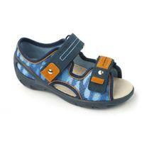 BEFADO Sandałki Dziecięce-Chłopięce - niebieskie, granatowe, przewiewne, na rzepy