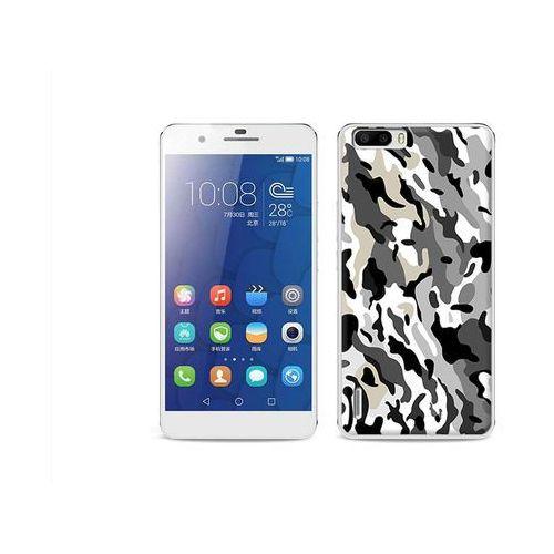 Fantastic Case - Huawei Honor 6 Plus - etui na telefon Fantastic Case - szare moro (Futerał telefoniczny)