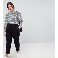 mix & match highwaist cigarette trousers - black, Asos curve