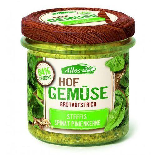 Pasta warzywna ze szpinakiem i orzechami piniowymi bio 135 g - , marki Allos
