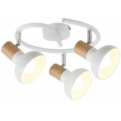 Rabalux Plafon holly 5946 lampa sufitowa 3x40w e14 biały/brązowy (5998250359465)