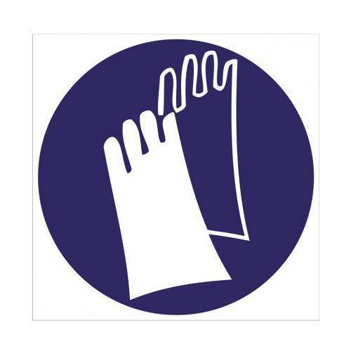 Nakaz stosowania rękawic ochronnych z kategorii Znaki informacyjne i ostrzegawcze