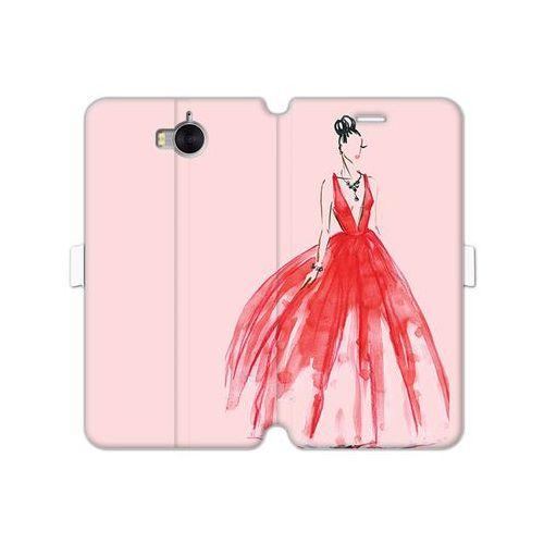 Huawei y6 (2017) - etui na telefon wallet book fantastic - czerwona suknia marki Etuo wallet book fantastic