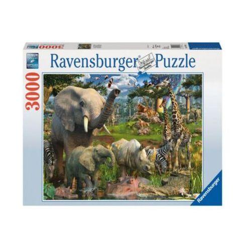 Ravensburger Raven. 3000 el. afrykańs kie zwierzęta (4005556170708)