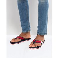 Tommy Hilfiger Technical Flag Beach Flip Flops in Red/White/Blue - Multi