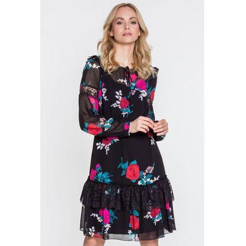 Sukienka w róże Wow - L'ame de Femme