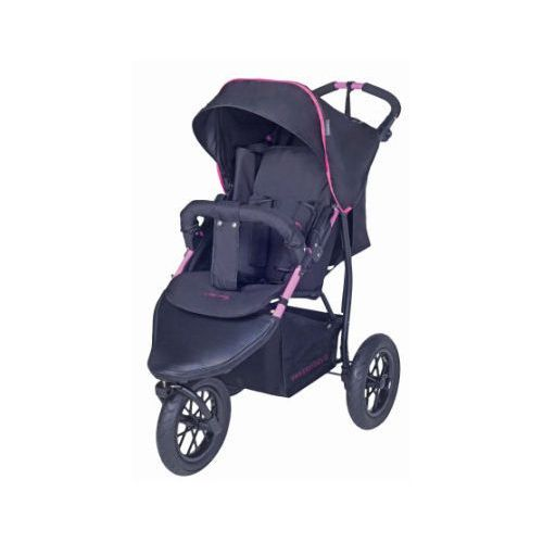 Knorr-baby wózek spacerowy joggy s czarny-fuchsia (4250341308822)