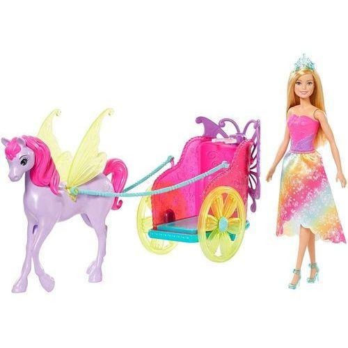 Mattel lalka barbie - powóz i bajkowy koń