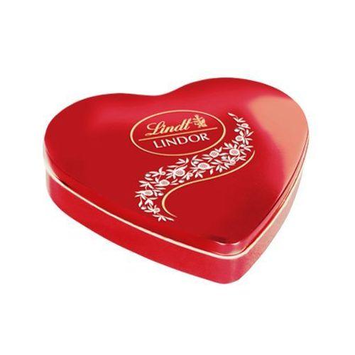 Lindt  187g lindor milk heart bombonierka   darmowa dostawa od 150 zł!