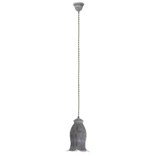 Lampa wisząca Eglo Talbot 49208 1 zwis oprawa żyrandol 1x60W E27 szara (9002759492083)