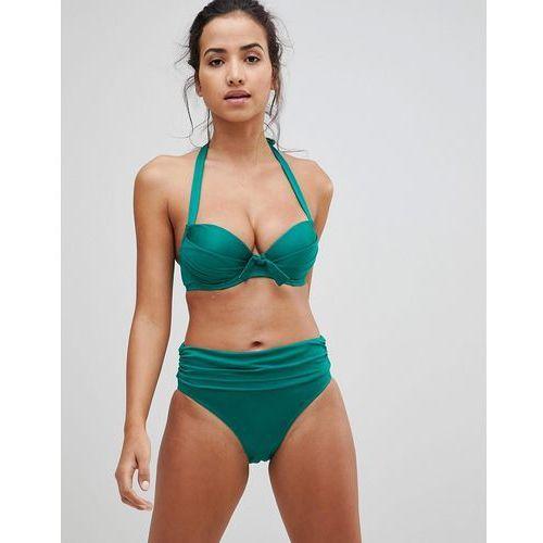 Pour moi azure fold over rouched bikini bottom - green