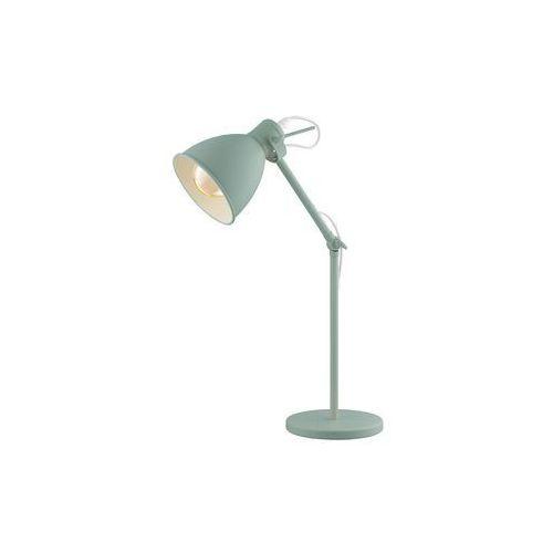 Eglo Lampa stołowa priddy-p 49097 lampka 1x40w e27 pastelowa zieleń (9002759490973)