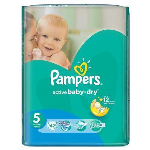 Pampers pieluchy active baby dry 5 junior (42 szt.). Najniższe ceny, najlepsze promocje w sklepach, opinie.